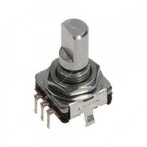 Encoder di ricambio con tasto a pressione per apparecchiature elettroniche - 15 ppr - 0 scatti