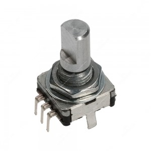 15 ppr, 30 detents incremental rotary encoder with push switch