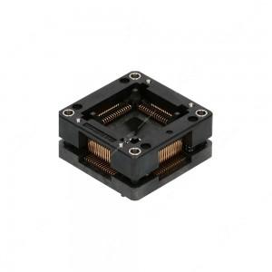 Zoccolo QFP64, 64 pin, passo tra pin 0,80mm