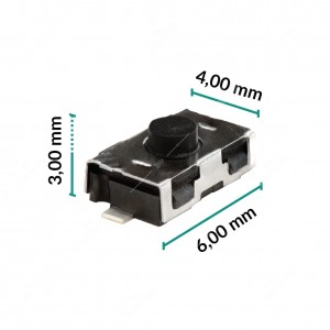 0 Pulsante 6x4x3mm - Conf. da 10 pz (normalmente aperto)