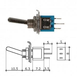 0 Interruttore/Deviatore a levetta (8x5mm)
