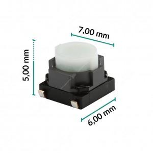 Micropulsante 6x7x5mm - Confezione da 10 pz (normalmente aperto)