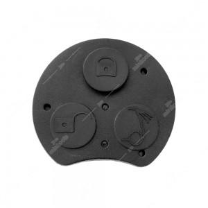 0 Gommino adattabile chiavi auto a tre tasti - 43,6x39,7mm - Colore nero