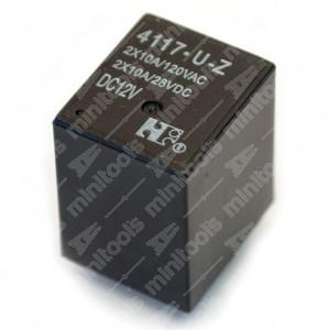0 Relä 4117-U-Z 2X10A DC12V