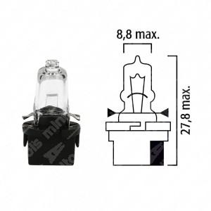 Schema lampadina per cruscotto B10d 12V base nera