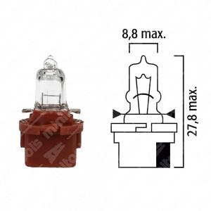 Schema lampadina per cruscotto B10d 12V base marrone