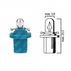 Schema lampadina per cruscotto BX8,5d 12V base azzurra