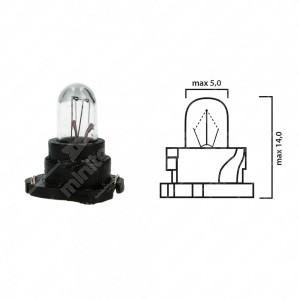 Schema lampadina per cruscotto F4,8 12V base nera