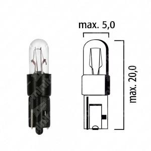 Schema lampadina per cruscotto W2x4,6d 12V base nera