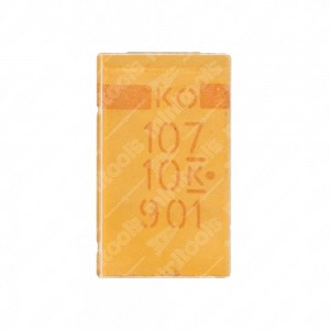 SMD tantalum capacitor, 100uF, 10V. 10 pcs per pack