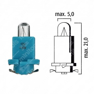 Schema lampadina per cruscotto HRQ 14V base nera