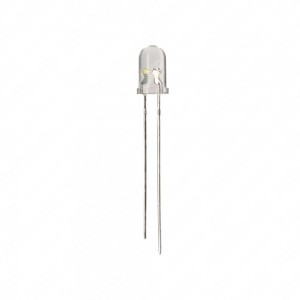 High brightness LED 5mm white light. 100 pcs per pack.