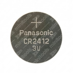 0 Batteria a bottone, al litio Panasonic CR2412 3V - 24x1,2mm 100mAh 0,5mA
