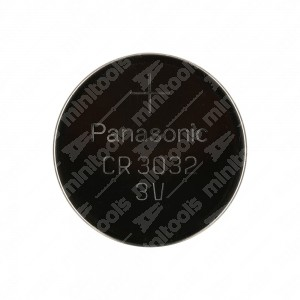 0 Batteria a bottone, al litio Panasonic CR3032 3V - 30x3,2mm 500mAh,0,2mA