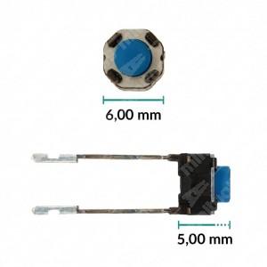 0 Pulsante 6x6x5mm - Conf. da 10 pz (normalmente aperto)