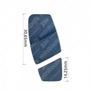 0 Gommino adattabile chiavi auto(2 pz, colore Blu) Mis. 30,65mm + 14,25mm