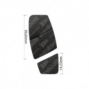 0 Gommino adattabile chiavi auto(2 pz, colore Nero) Mis. 30,65mm + 14,25mm