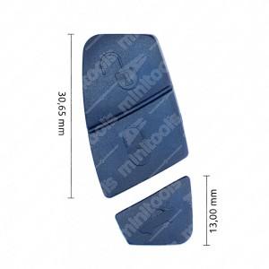 0 Gommino adattabile chiavi auto (2 pz, colore Blu) Mis. 30,65mm + 13mm
