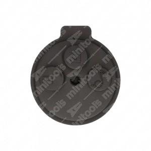 0 Gommino adattabile chiavi auto a tre tasti - 39,4x43,7mm - Colore nero